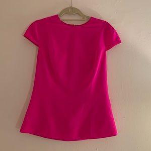 Hot pink 100% silk blouse